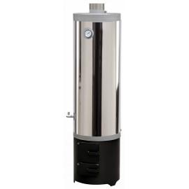 FM Group Ansamblu boiler inox 120 L cu focar cu usi din tabla FM