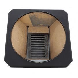FM Group Ansamblu boiler inox 90 L cu focar cu usi din fonta FM