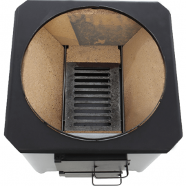 Boiler pe lemne din Inox 90L si electric cu focar usa tabla