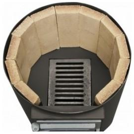 FM Group Ansamblu boiler inox 120 L + electric , cu focar cu usi din fonta FM