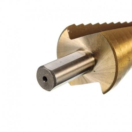 Burghiu conic in trepte pentru metal HSS-TI, 6 - 25 mm