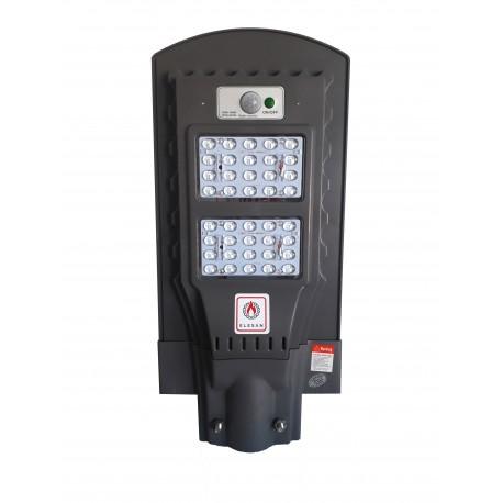 Lampa stradala cu leduri 40 w , panou solar, senzor de noapte/zi si senzor de miscare