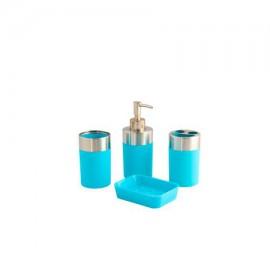 Set 4 piese accesorii baie bleu