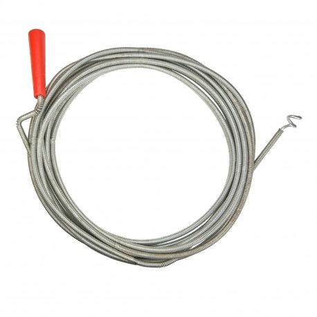 Rac canal ( sarpe ) spirala pentru desfundat tevi de scurgere, lungime 5 m, diametru cablu 12 mm