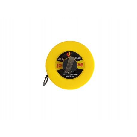 Ruleta de masurat cu fixator 20 m x 13.5 mm cu banda din fibra de sticla, mainer nichelat