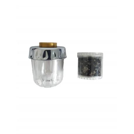Filtru de apa cu carbon activ pentru robinetul chiuvetei de bucatarie, cu filet exterior( perlator )