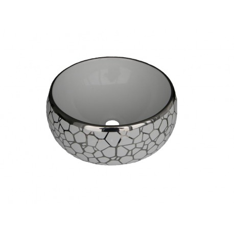 Lavoar ceramic Rotund - 37 cm ,Montaj pe blat 6616