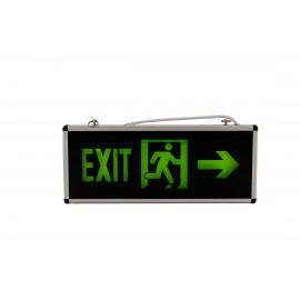 Lampa exit , iesire la dreapta cu led si acumulator autonomie 90 minute