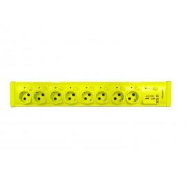 Prelungitor cu Protectie la Supratensiune cu USB ,8 Prize cu intrerupator 3 m, Cablu 3X1 mm
