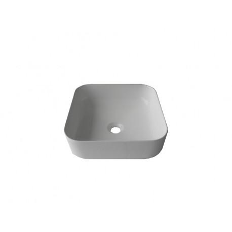 Lavoar ceramic Patrat - 39 cm Alb ,Montaj pe blat Y 508