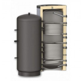Rezervor de acumulare Woody 1500 L , izolat, cu 2 serpentine PR2 1500(PR2-1500)