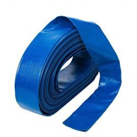 Furtun plat din PVC refulare pompa 2 toli 50m albastru insertie panza IBO