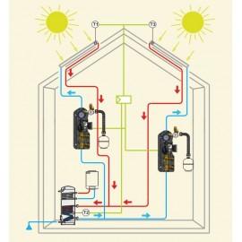 Grup hidraulic Tiemme cu pompa Grundfos UMP3K Solar 15/75-130 (monobrat)