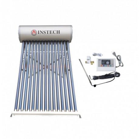 Kit Panou solar Inox/AL 100l- 10 tuburi , apa calda nepresurizat cu controler electronic inclus