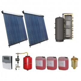 SISTEM SOLAR PRESURIZAT APA CALDA 400L COLECTOR SOLAR 2 X 25 TUBURI, BOILER 400L 2 S