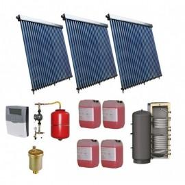 SISTEM SOLAR PRESURIZAT APA CALDA 500L COLECTOR SOLAR 3 X 20 TUBURI, BOILER 500L 2 S
