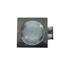 Spot incastrat fix 2x26W E27 IP20 - Crom