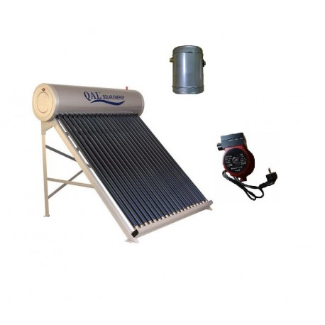 Kit Panou solar Inox/Al apa calda 120 L,12 tuburi vidate 58/1800 mm, vas flotor 3 L cu pompa ridicare presiune cadou