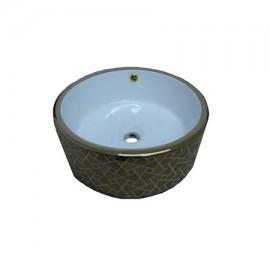 Lavoar pe blat ceramic Rotund Auriu - 41 cm , 5101