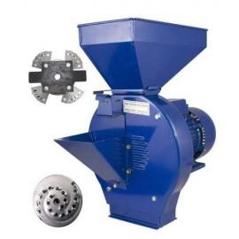 Moara macinat cereale boabe si stiuleti porumb 2,5 kw, motor cupru ,200 kg /ora