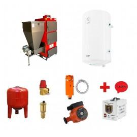 Pachet cazan Instech KOR 3G/SO - 29 KW cu termoboiler Tesy 100 L