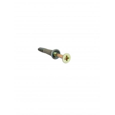 Diblu cu surub cui percutie 8 x 60 mm (100 bucati)