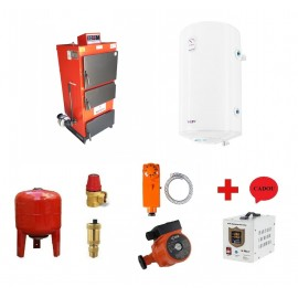 Pachet cazan Instech KOR 3G - 41 KW cu termoboiler Tesy 100 L