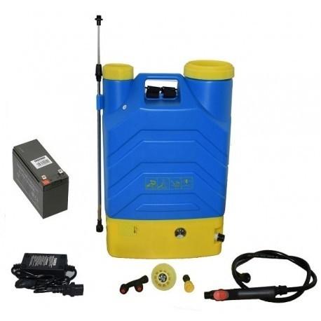 Pompa stropit electrica QAL- Tools 16 Litri, 5 Bar, regulator presiune, vermorel cu baterie acumulator 12 V
