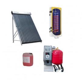 Pachet panou solar QAL-Solar Energy 10 tuburi , boiler ELDOM 100L-2S si Statie Solara cu pompa Wilo