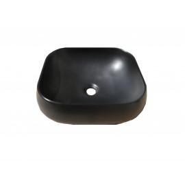 Lavoar pe blat ,ceramic Dreptunghiular , 015 Negru Mat