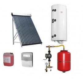 Pachet solar Kit complet QAL-Solar Energy Heat Pipe 2-3 persoane 100 L ELDOM cu doua serpentine , QAL58/1800-10